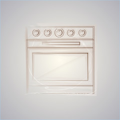 Sketch vector illustration of oven
