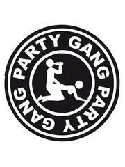 Party Gang Alcohol Sex Beer Fuck Porn Stamp