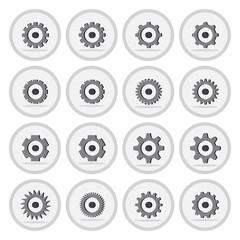 Vector of flat icon, gear wheel or setting symbol