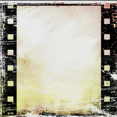 old grunge film strip background