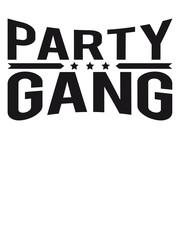 Party Gang Text Logo