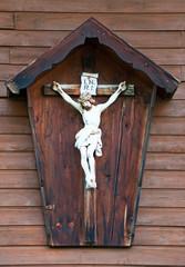 wooden wayside cross