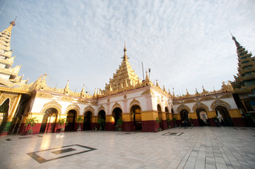 Maha Muni Pagoda in Mandalay city,Myanmar.
