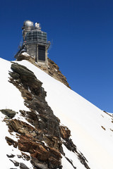 Sphinx high altitude observatory in Jungfraujoch pass in Switzer