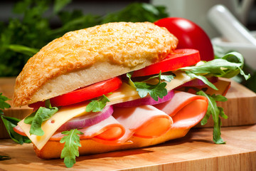 Gourmet sandwich horizontal
