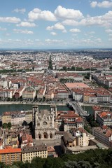 View of Lyon from the basilica of Fourvière