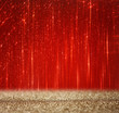 red and gold abstract bokeh lights. defocused background
