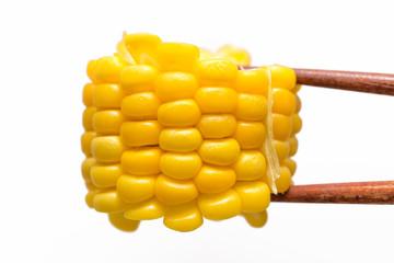 トウモロコシ 白背景
