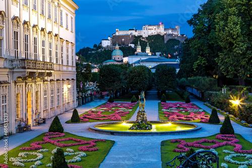 canvas print picture Salzburg Mirabellgarten