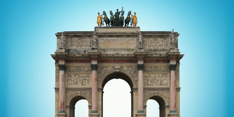 Triumphal arch on the area of Karusel, Paris, France