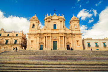 Baroque style Noto Cathedral
