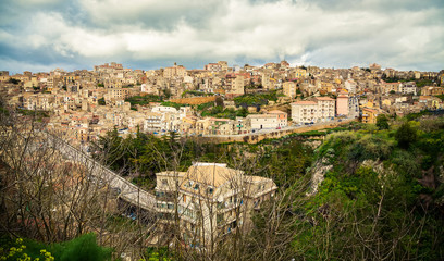 the highest town in Sicily
