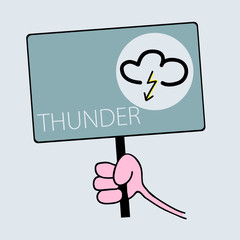 panel for thunder weather vector illustration