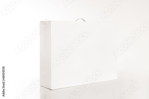 canvas print picture Weisse Verpackungskiste