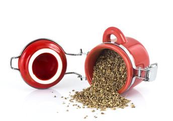 Pottle of dry tea
