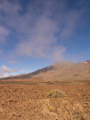 Wolken über der Caldera Las Canadas auf Teneriffa