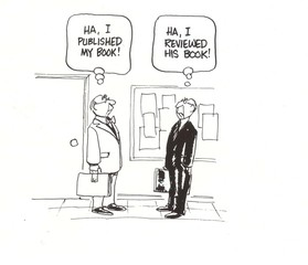 """""""...I published my book.""""  """"...I reviewed his book."""""""