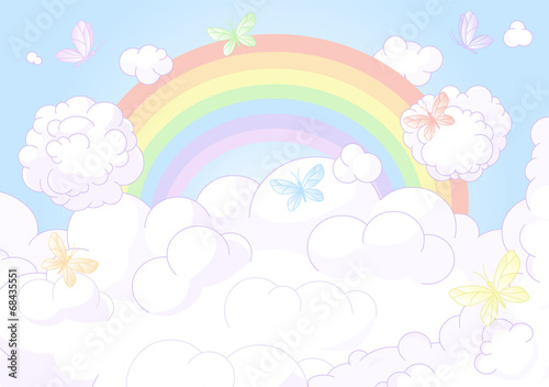 Rainbow sky - 68435551