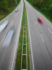 German Autobahn blur
