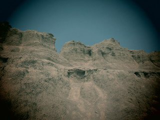 A filtered scenic in the Badlands National Park, South Dakota.