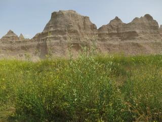 A scenic in the Badlands National Park, South Dakota.