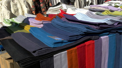 Colorful clothes being displayed on Estonia GH4 4K UHD
