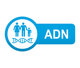 Etiqueta tipo app azul alargada ADN