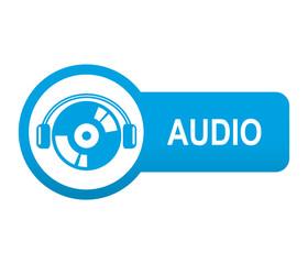 Etiqueta tipo app azul alargada AUDIO