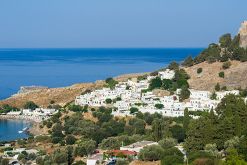 Lindos on island Rhodes