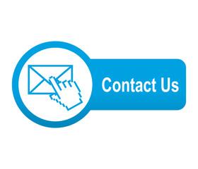 Etiqueta tipo app azul alargada Contact Us