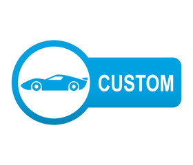 Etiqueta tipo app azul alargado CUSTOM coches