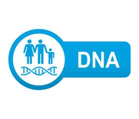 Etiqueta tipo app azul alargada DNA