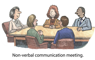 Non-verbal communication meeting