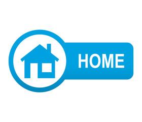 Etiqueta tipo app azul alargada HOME
