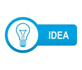 Etiqueta tipo app azul alargada IDEA
