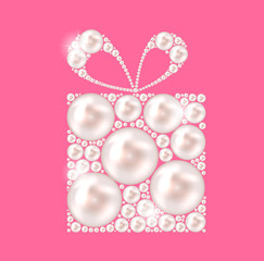 Beauty Pearl Gift Background Vector illustration