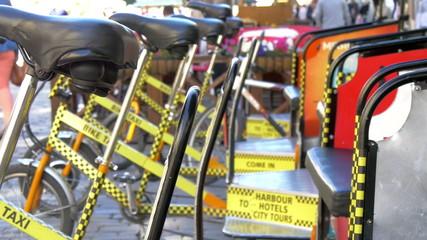 Set of bicycle for rent in Estonia city GH4 4K U