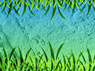 Grass frame Background on wall texture background design