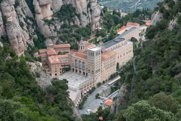 View of Santa Maria de Montserrat Abbey, Barcelona, Catalonia, S