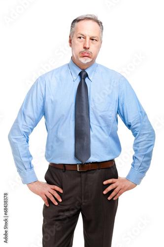 Bored businessman portrait