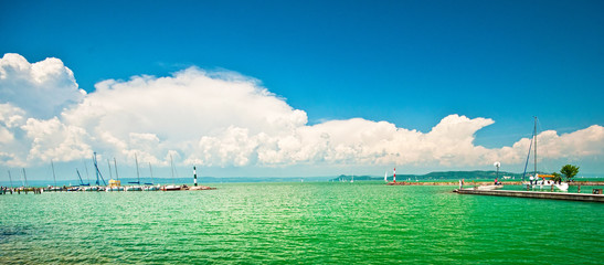 Lake balaton at summer, Hungary