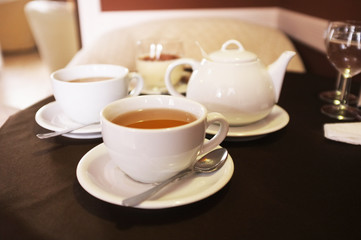 Cup of tea in cafe