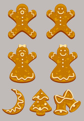 Set of gingerbreads