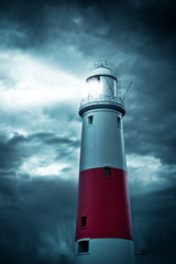 Portland Bill lighthouse, Dorset, England