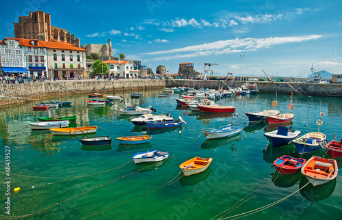 Harbour of Castro Urdiales, Spain - 68439527