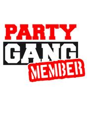 Party Gang Member Logo Design