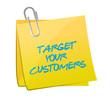 target your customers post illustration design