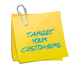 target your customers post illustration design