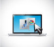 laptop business message communication