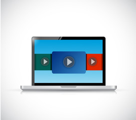 laptop computer video display illustration design